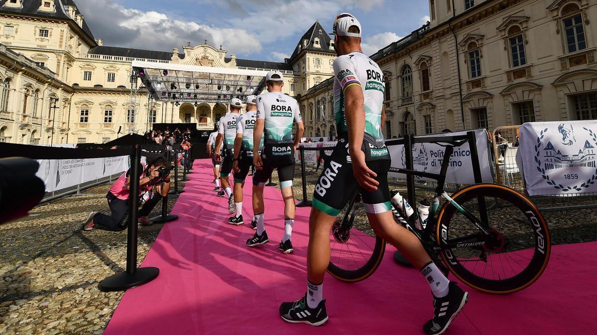 Un momento de la presentación del Giro de Italia 2021.