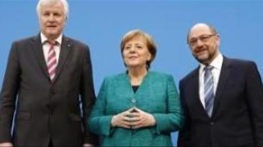 Els conservadors de Merkel i Schulz tanquen un acord per formar govern