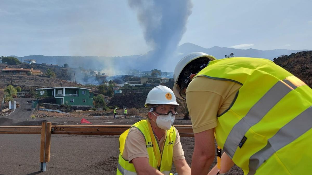 Members of the Geovol group on La Palma.