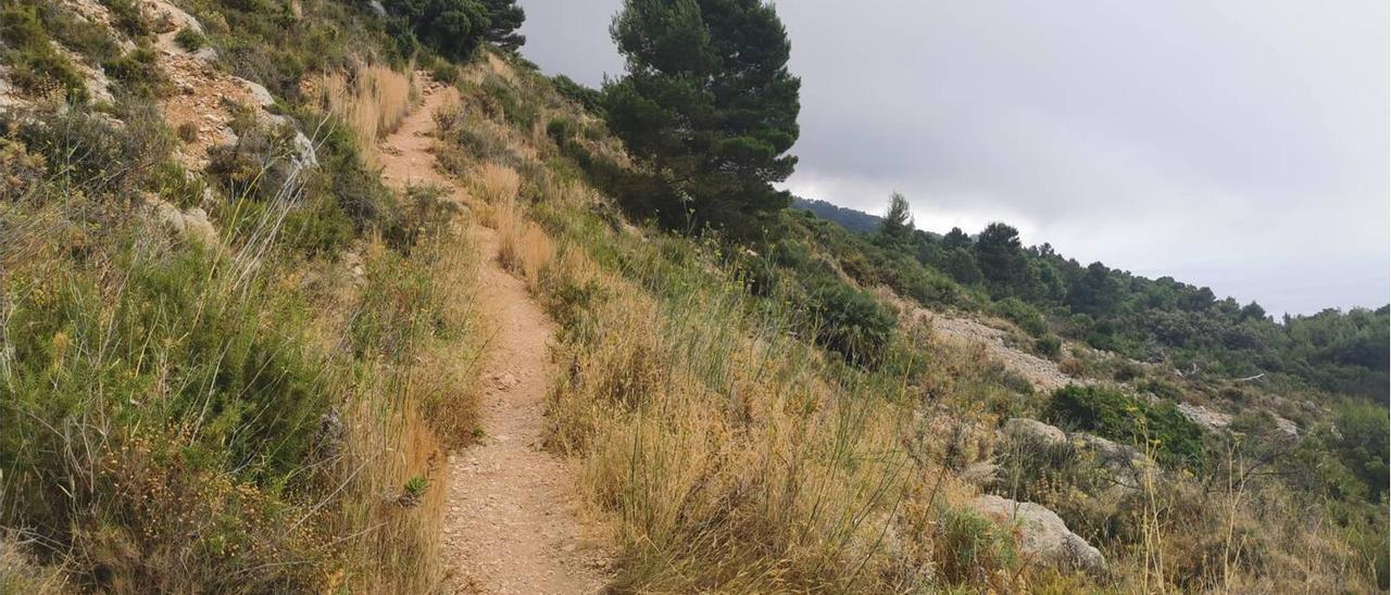 Imagen de la zona donde tuvo lugar el rescate en la Sierra de Bernia el pasado fin de semana.