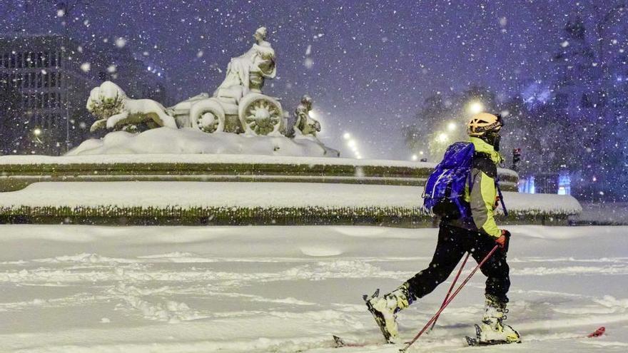 La gran nevada a Madrid, en fotos