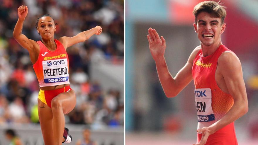 Adrián Ben y Ana Peleteiro, candidatos a mejor atleta español de 2019