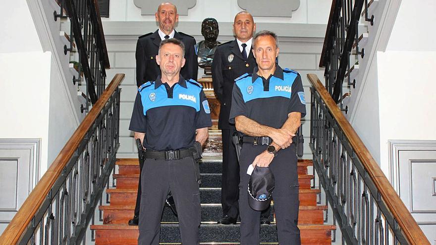 Nuevos mandos para la Policía Local de Mieres