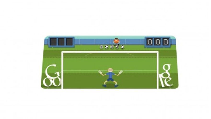 Mundial Brasil 2014: El doodle de Google juega al fútbol