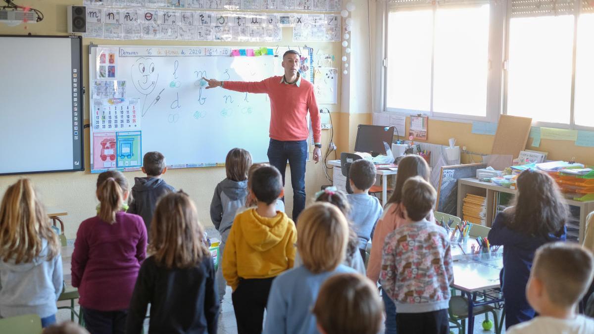 Clase en un colegio de la provincia antes del confinamiento