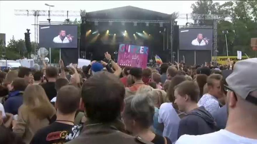 65.000 personas asisten a un concierto contra el racismo en Chemnitz