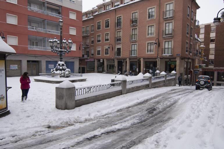 Así ha sido la nevada en Benavente.