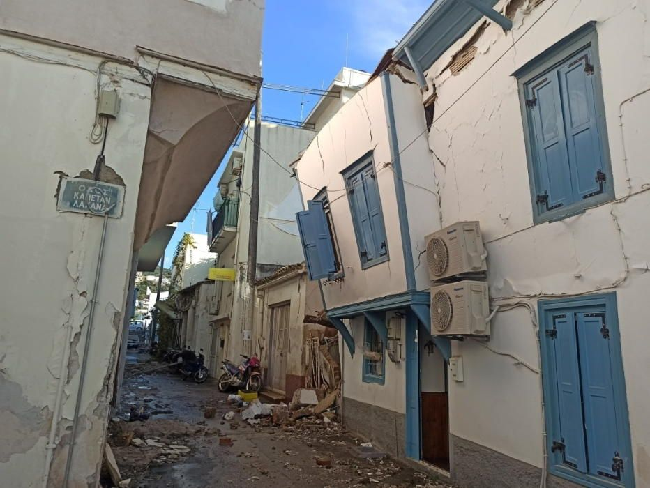 Efectes del sisme a Grècia