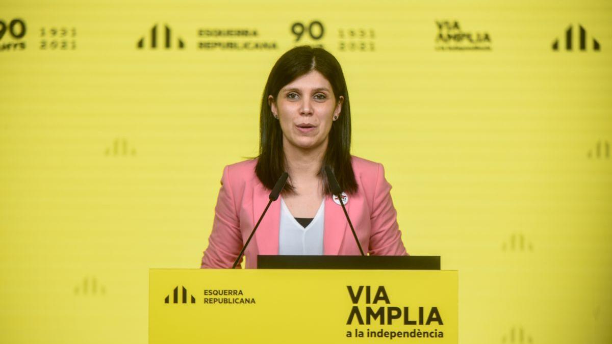La portavoz de ERC, Marta Vilalta, en un foto de archivo.