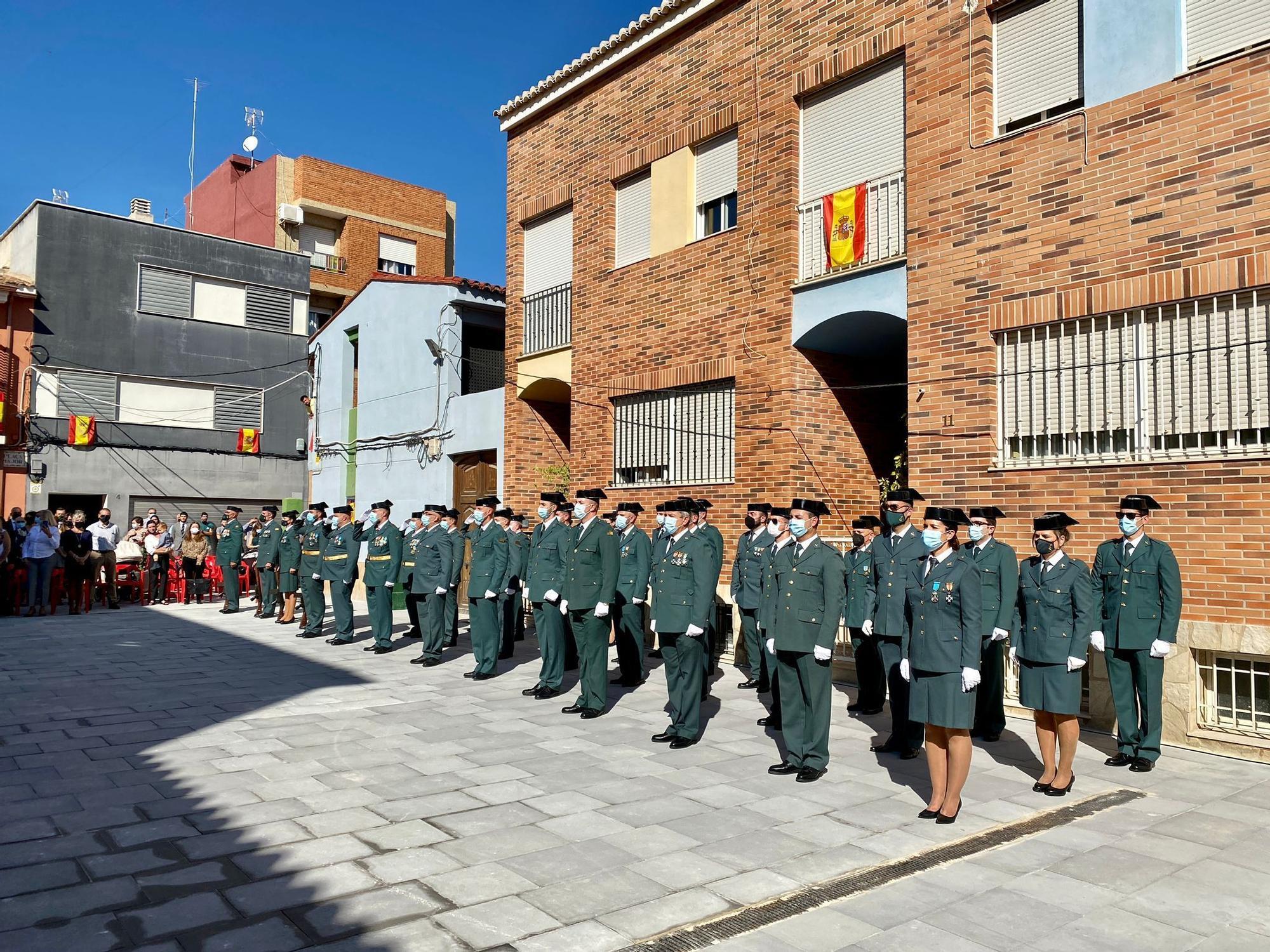 Guardias civiles participantes.