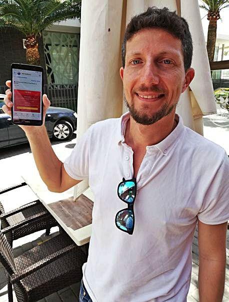 Ignacio Massot, otro de los afortunados agraciados con la entrada.
