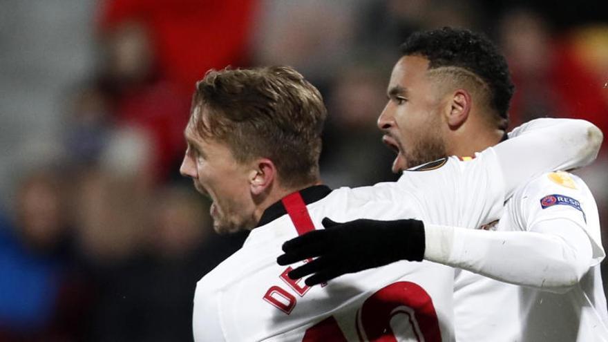Un gol de En-Nesyri al final salva al Sevilla frente al Cluj