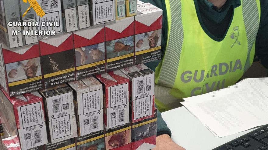 Interceptado un vehículo en Alcañices con tabaco de contrabando oculto bajo castañas