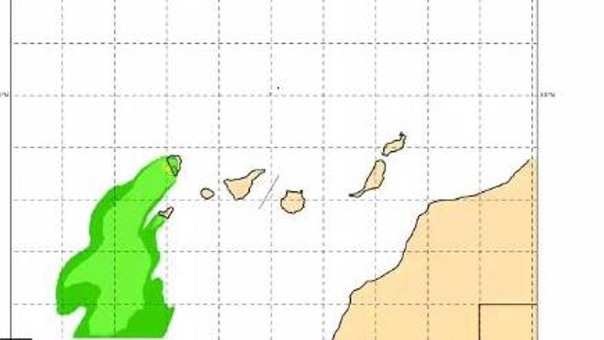 Aemet: la lluvia ácida podría llegar a las Canarias mas montañosas esta tarde