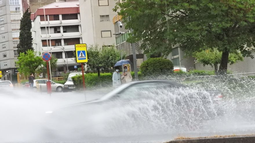 Así fue el 'diluvio universal' en Ourense