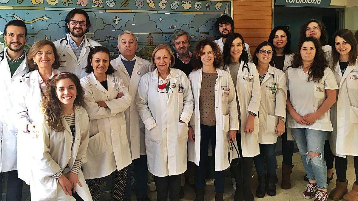 Miembros del Grupo de Investigación de Insuficiencia Cardíaca del Inibic coruñés, en una imagen de archivo anterior a la pandemia.