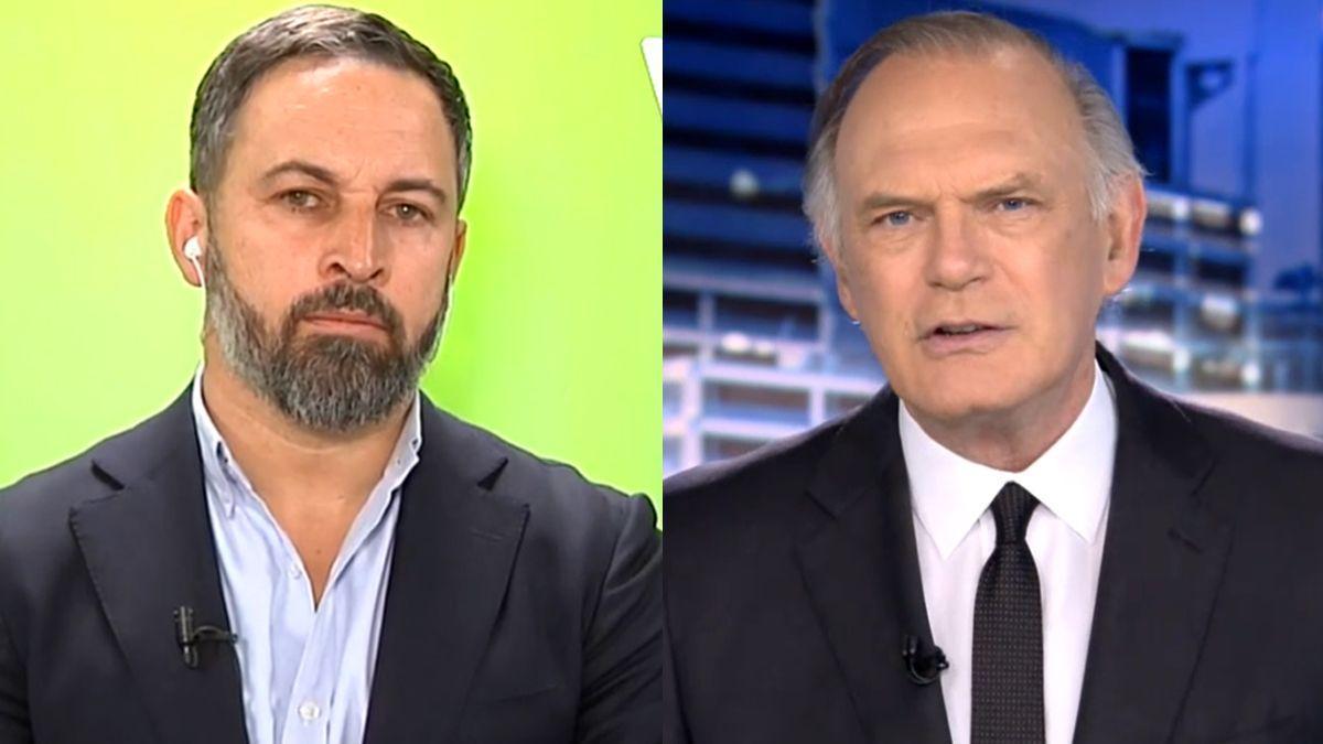 Santiago Abascal y Pedro Piqueras.