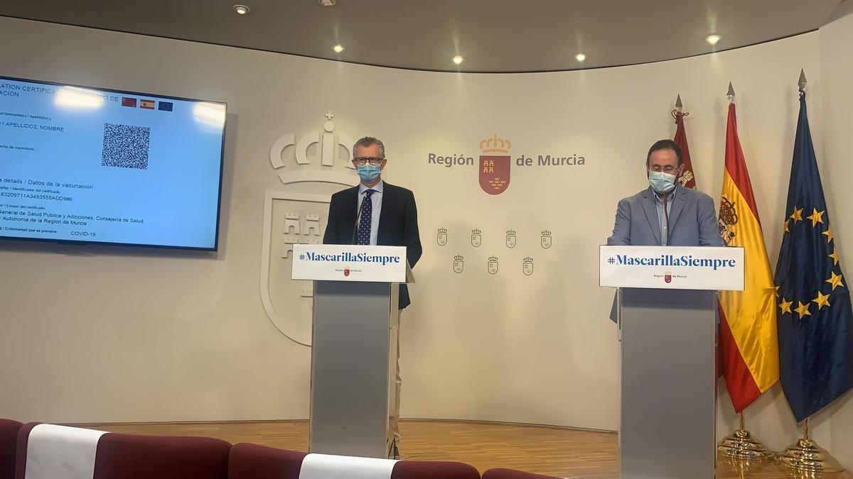 Juan José Pedreño y Jaime Pérez, este lunes, en rueda de prensa.