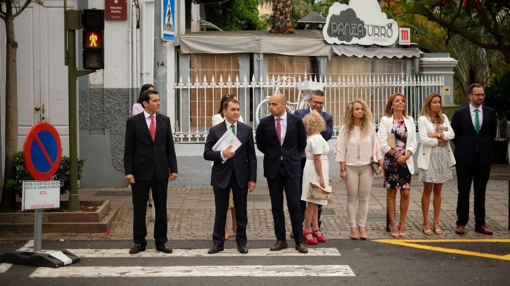 Negociación de pacto en Santa Cruz de Tenerife