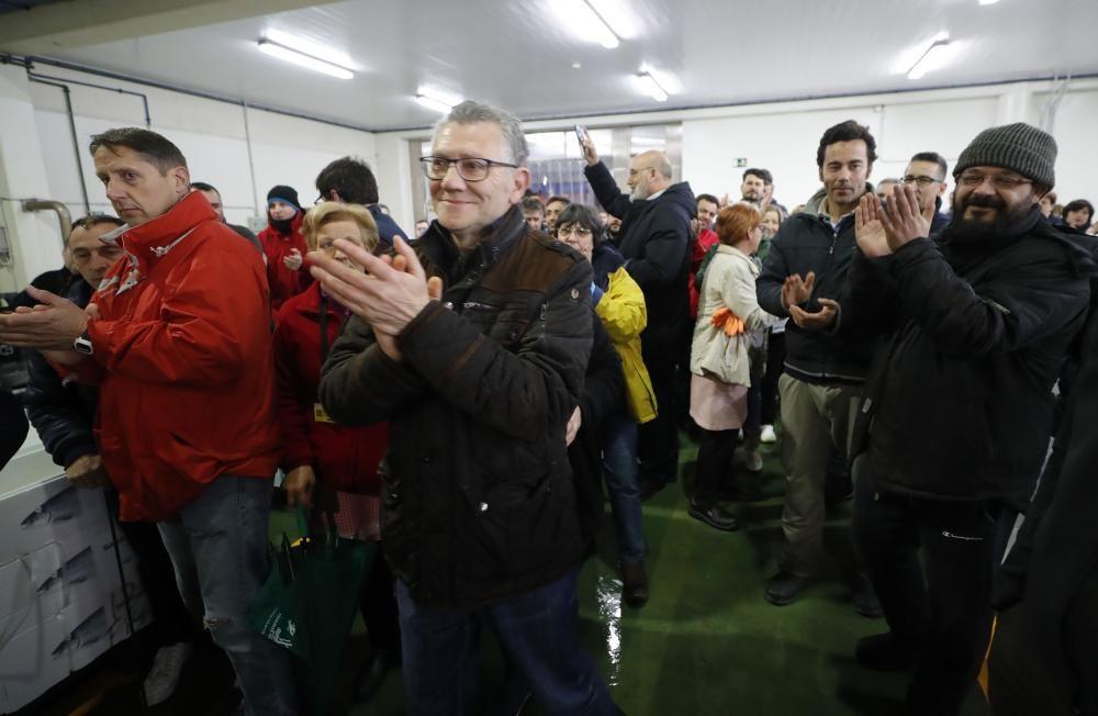 """Los usuarios de O Berbés realizan un """"parón simbólico"""" por el alza de las tasas"""