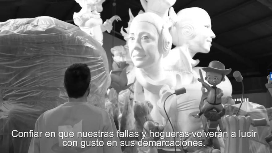 El motivador vídeo del artista fallero Víctor Navarro