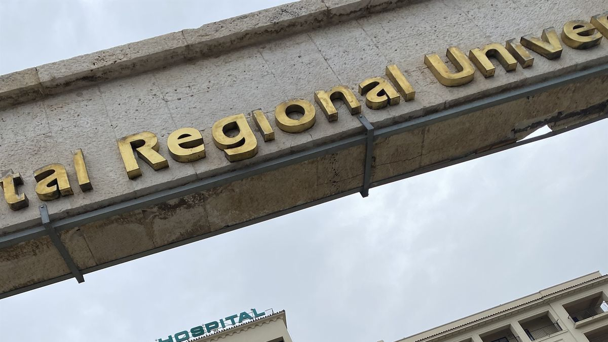 Entrada del Hospital Regional de Málaga