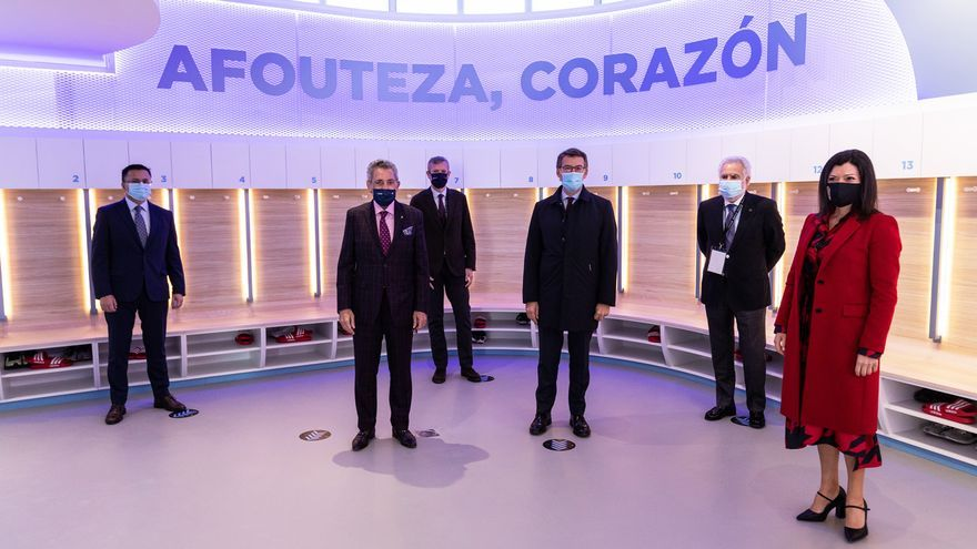 Luis Rubiales se reúne con Núñez Feijóo en Afouteza