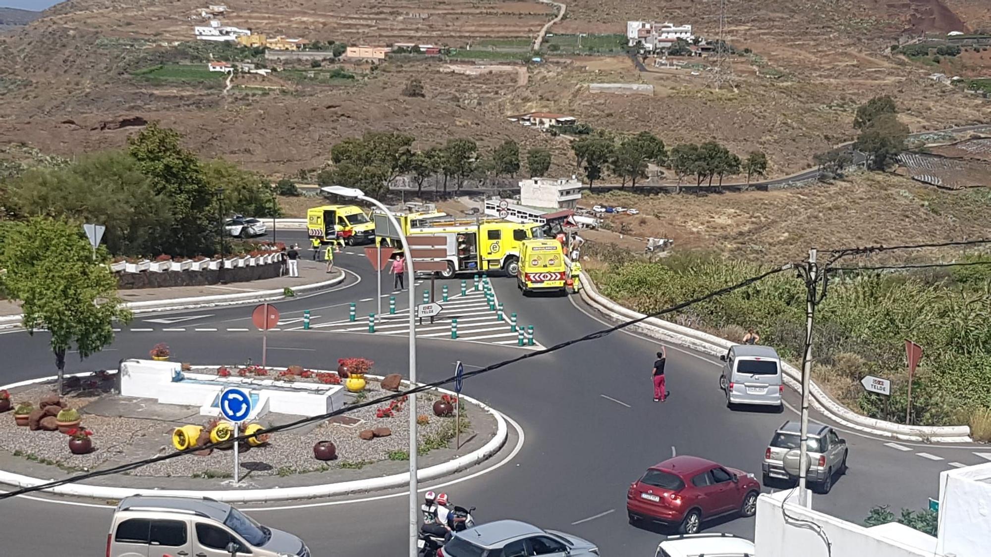 Dos coches implicados en un accidente en Valsequillo