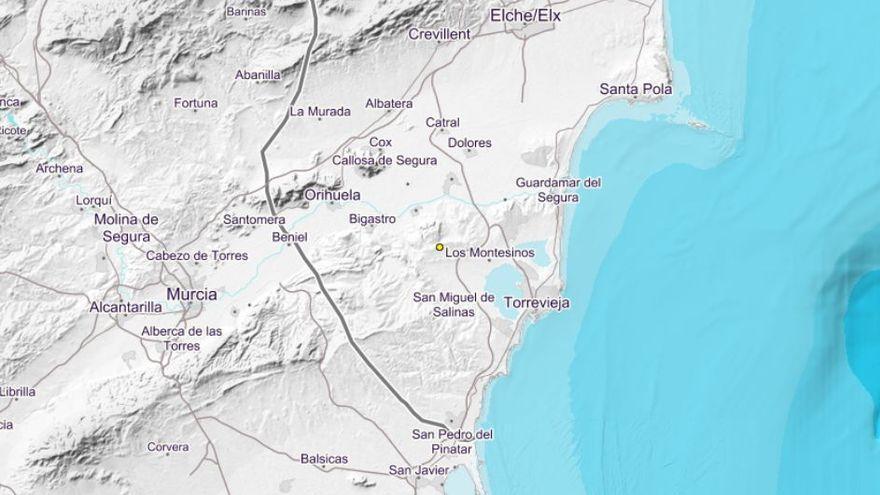 Registran un seísmo en la localidad de Benejúzar