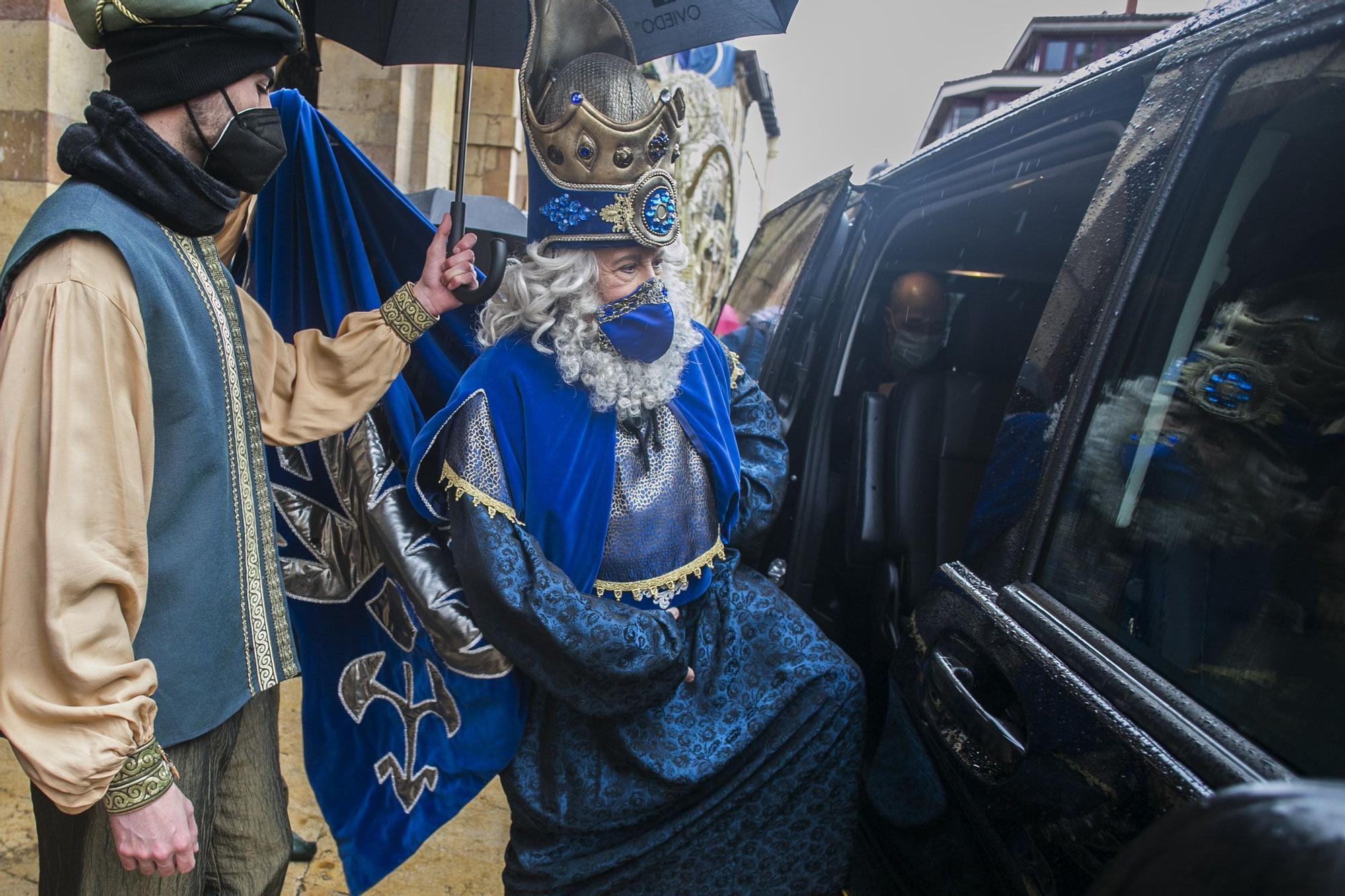 Recepción de los Reyes Magos en Oviedo, enero 2021