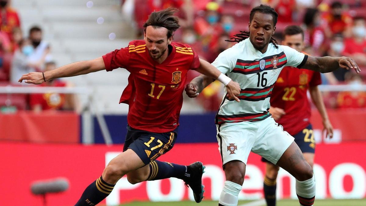 Partido de la selección española de fútbol.