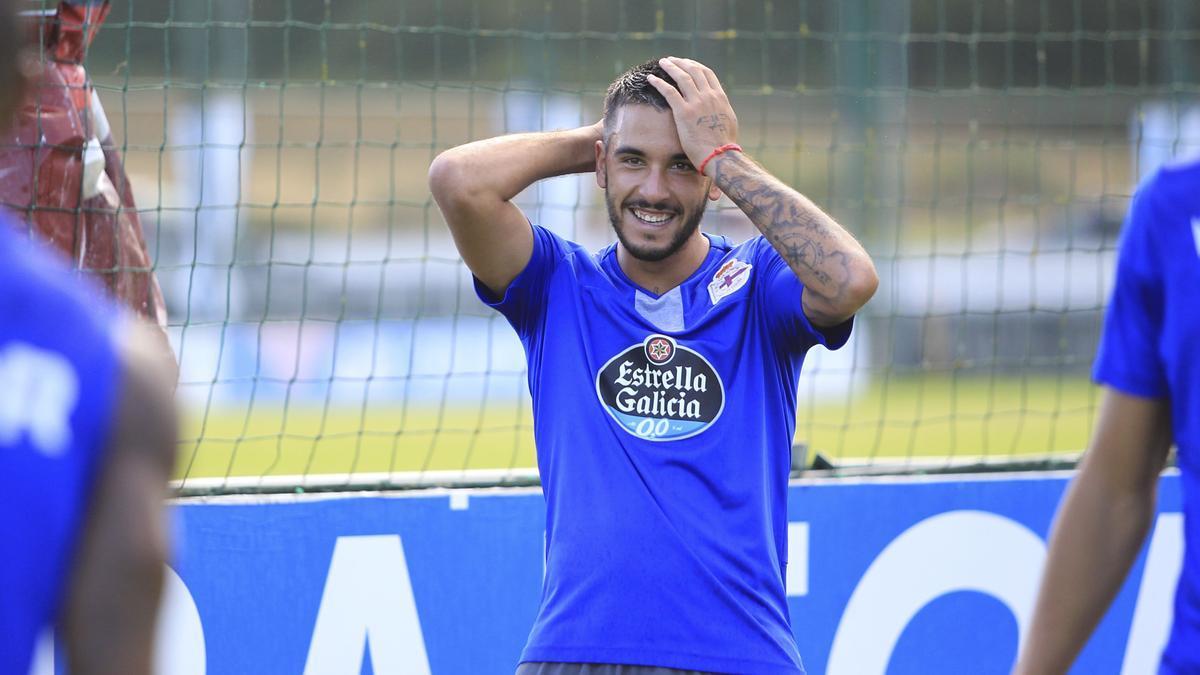 Adri Castro durante un entrenamiento.