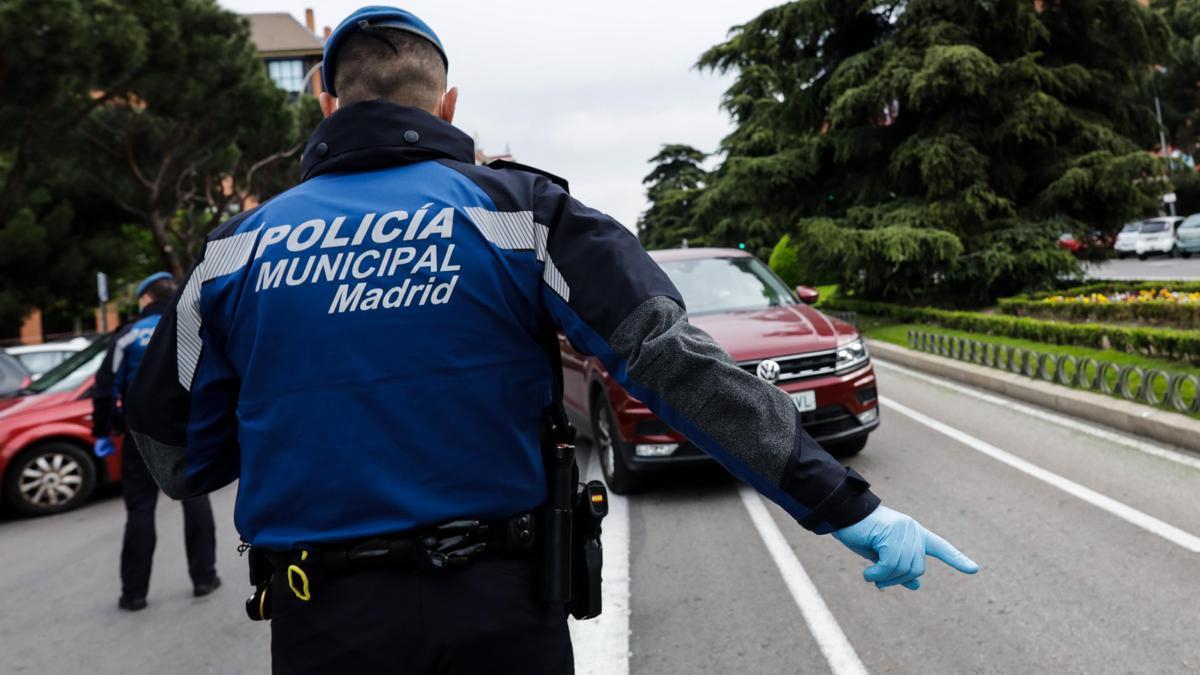 Un control de movilidad en Madrid.