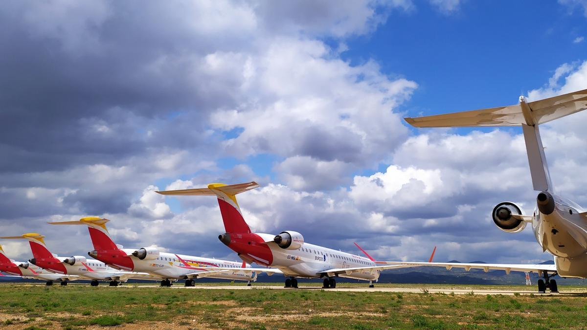 Parte de la flota de Air Nostrum.