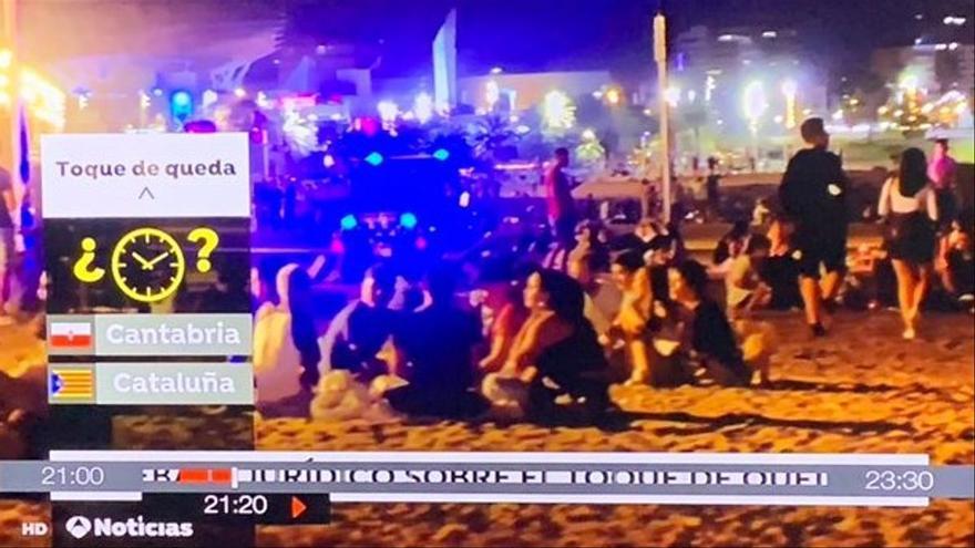 Antena 3 posa una estelada en lloc de la bandera oficial de Catalunya