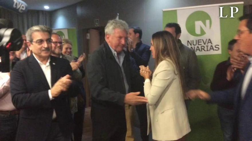 Noche electoral del 10N en CC-PNC-NC en Canarias