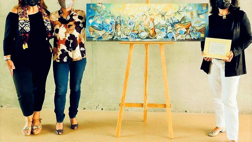 """Un cuadro de """"Calzando pinceladas"""" para el Museo de Elda"""