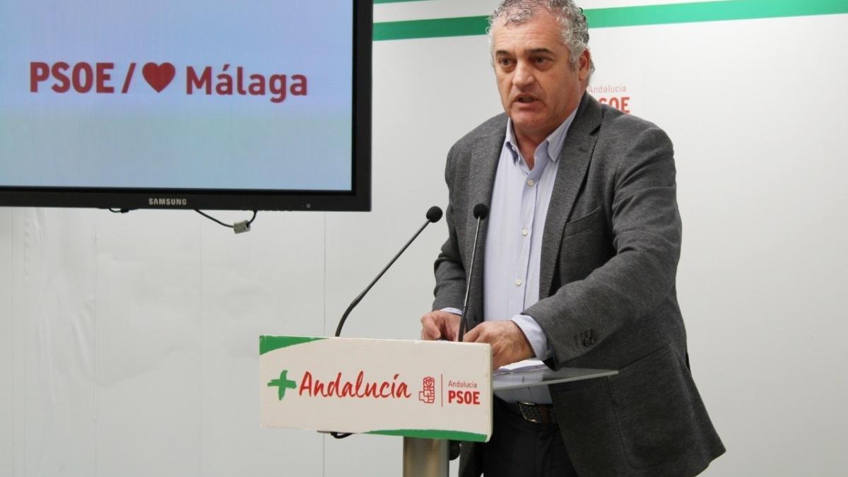 El coordinador del Gabinete Parlamentario del PSOE de Málaga, Javier Carnero.