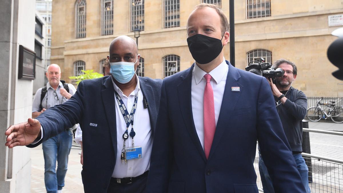 El ministro de Salud británico, Matt Hancock