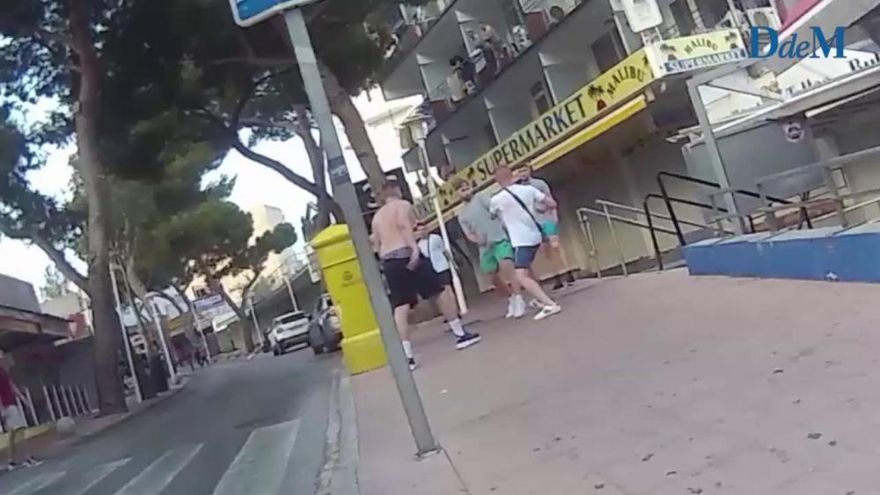 Nueva pelea entre turistas en Magaluf