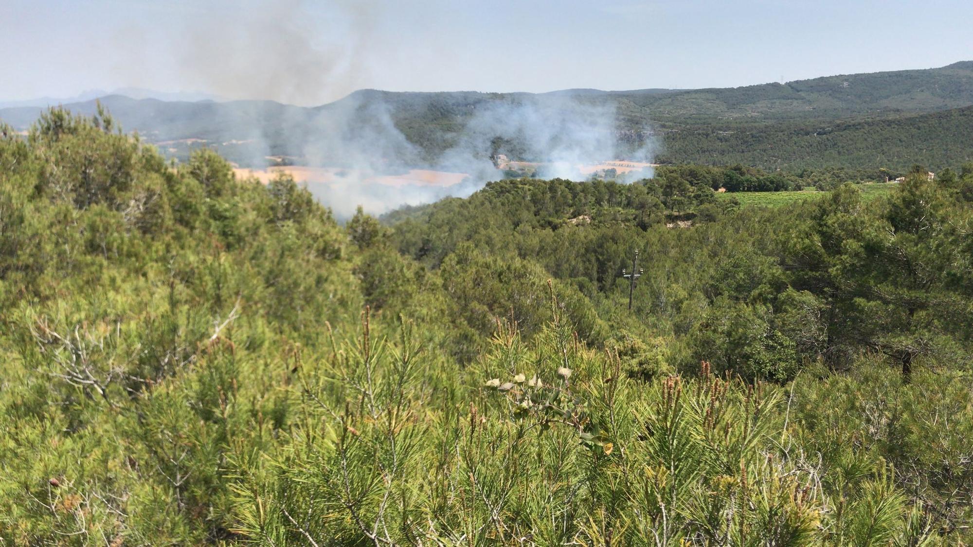 Incendi a Santa Maria de Miralles i Querol