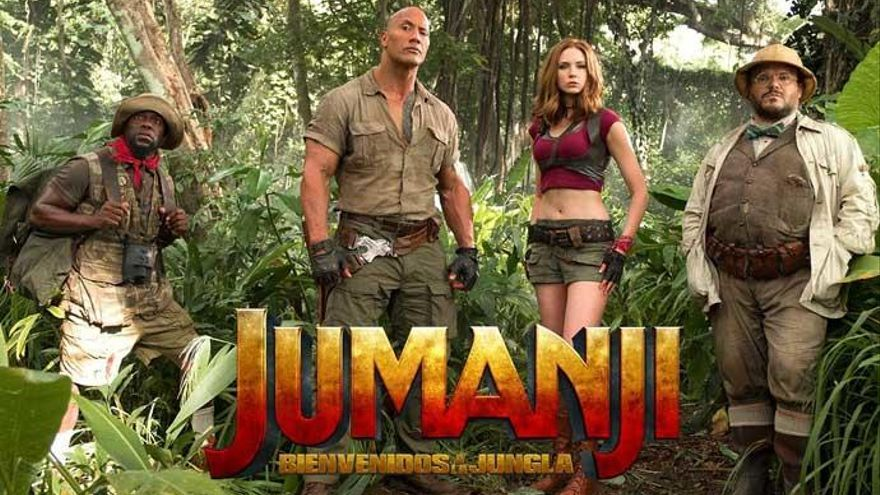 Jumanji, bienvenidos a la jungla: Con voluntad de entretener