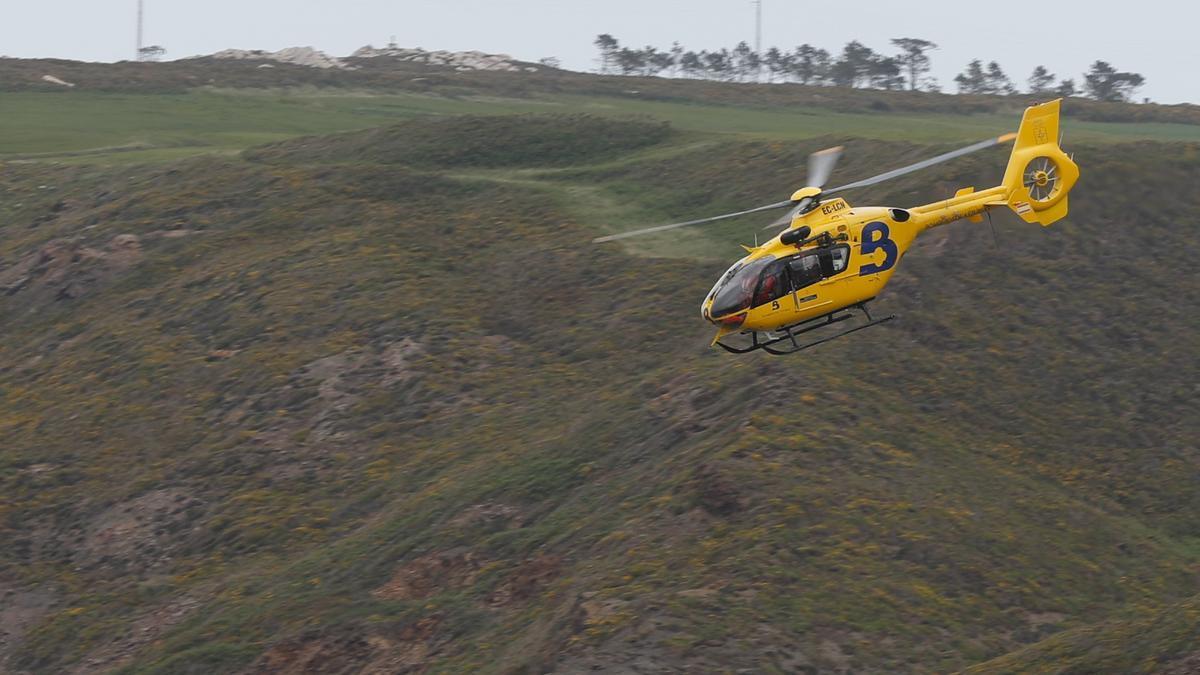 El helicóptero de rescate del SEPA.