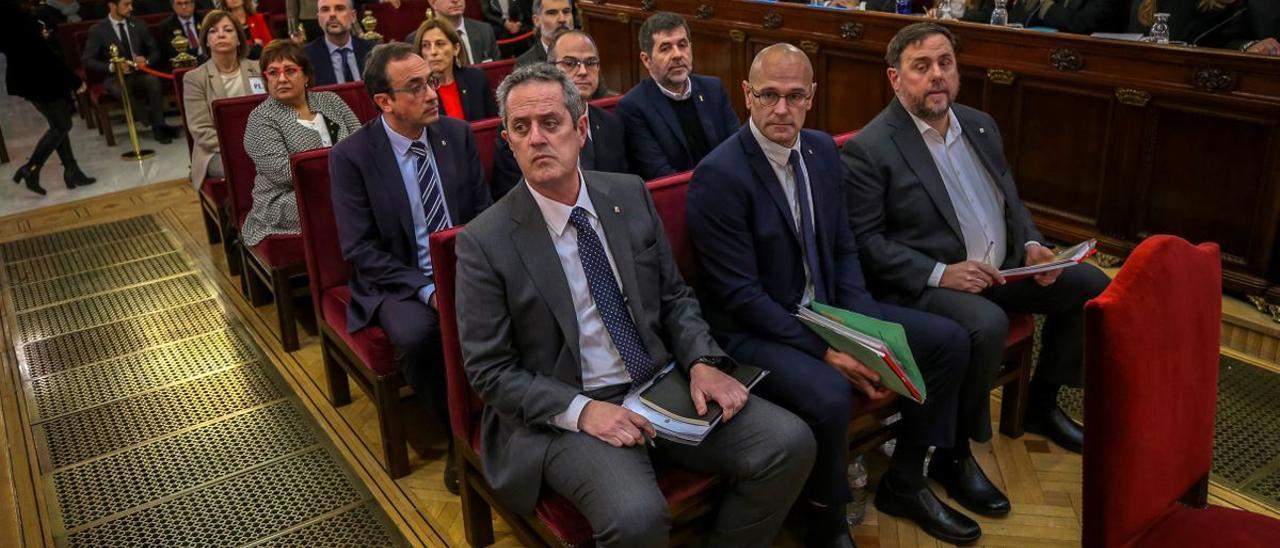 Líderes independentistas en el juicio del procés