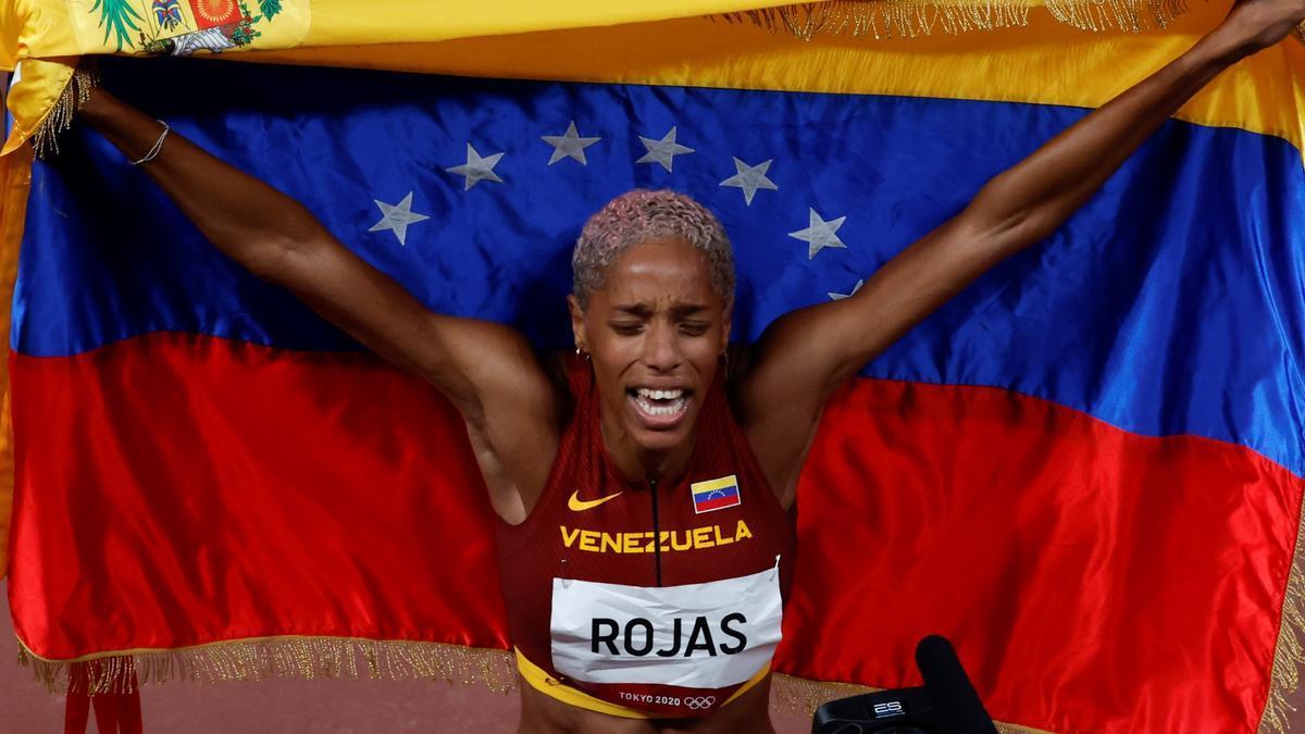 Yulimar Rojas, récord mundial de triple salto.