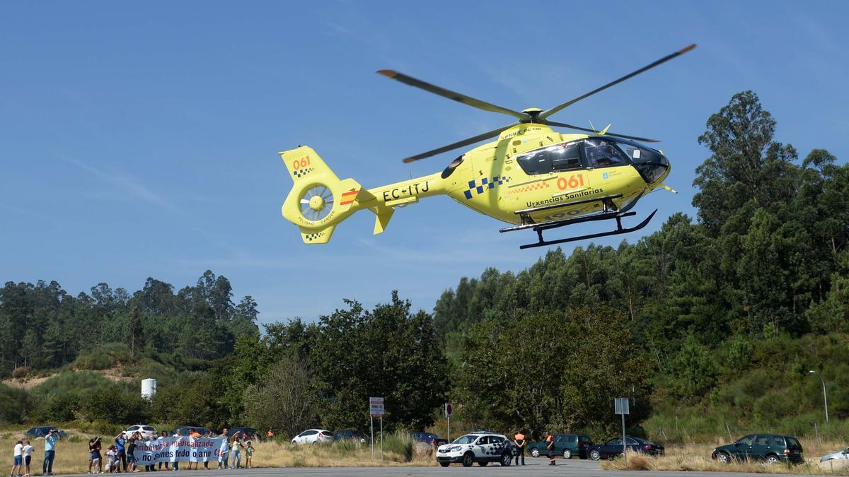 Helicóptero del 061, en una imagen de archivo