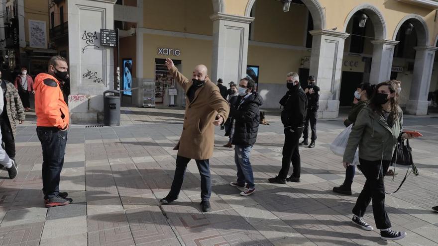 La Policía evita una protesta de 'Resistencia balear' en Plaza Mayor