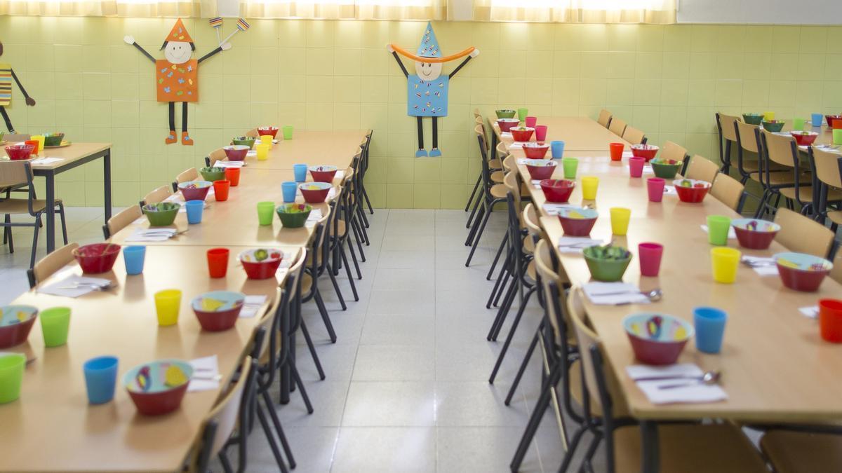 Imagen de un comedor escolar de un colegio