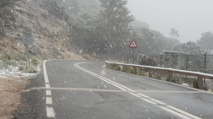 Kaltes Wochenende auf Mallorca: In der Tramuntana schneit es
