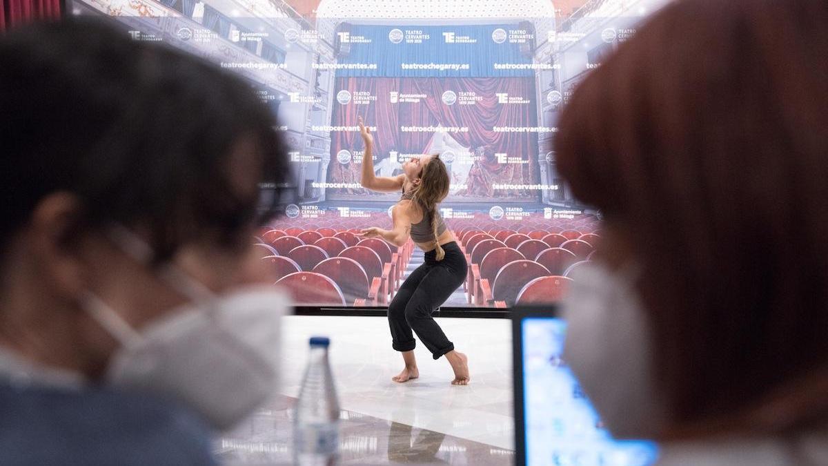 Un momento del casting, que tiene lugar en el salón Rossini del Teatro Cervantes.